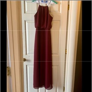 Maroon formal dress